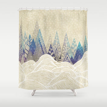 Snowy Dreams  Shower Curtain by rskinner1122