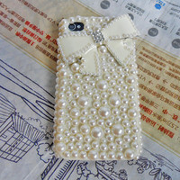 iphone 4 4S hard Case Cover with pearl For iPhone 4,4S ,iPhone 4 Case, iPhone 4 S Case, iPhone 4 G S Case,iPhone hand case cover   -096