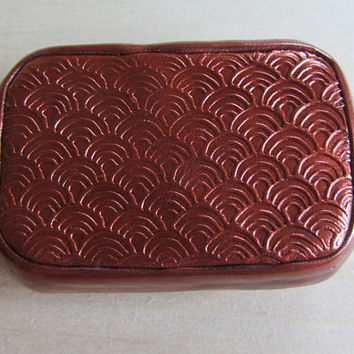 Art Deco Bronze Polymer Stamped Upcycled Altoids Mini Smalls tin, storage, keepsake, gift box, pill box, stash box