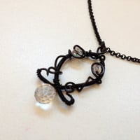 Wire wrapped jewelry, handmade wire wrapped necklace Witchcraft, handmade jewelry, handmade wire wrapped jewelry
