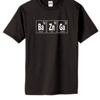 Bazinga Periodic Table Big Bang Theory Unisex/Men's Size SM, M, L, or XL