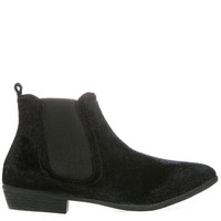 The Up in The Woods Booties in Black Pony
