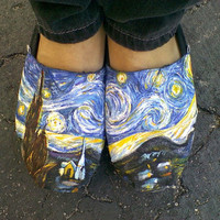 Custom Van Gogh TOMS &quot;Starry Night&quot;