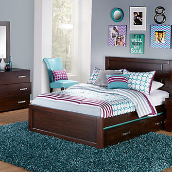 Quake Cherry 5 Pc Full Panel Bedroom