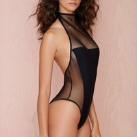 Nasty Gal Meshed Me Up Swimsuit