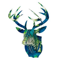 "Alison Coxon ""Leaves"" Bucky Deer Bust Jr. - Default"
