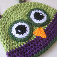 CUSTOM Owl Hat - Any Size - Made to Order