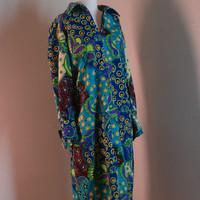 Vintage Multicolor Shirt Dress