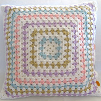 Sophie...Crochet Retro Pillow Cover- Made to Order