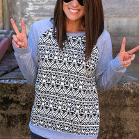 Peace Tribe Knit {Heather Grey}