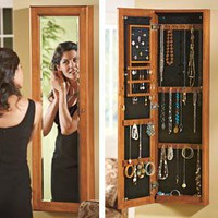 Full Length Mirror Jewelry Cabinet, Wall Mounted Jewelry Cabinet | Solutions