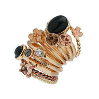Cats Eye Cluster Ring Set