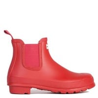 Hunter Original Two Tone Chelsea Rain Boot in Military Red