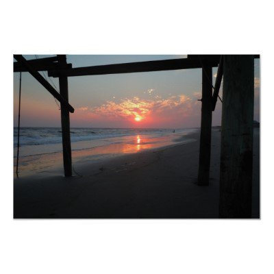 "Beautiful ""Sunset Beneath the Pier"" Posters from Zazzle.com"