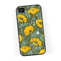 Art Nouveau Poppies iPhone case, 4 or 4S