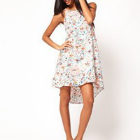 ASOS Swing Dress In Floral Print at asos.com