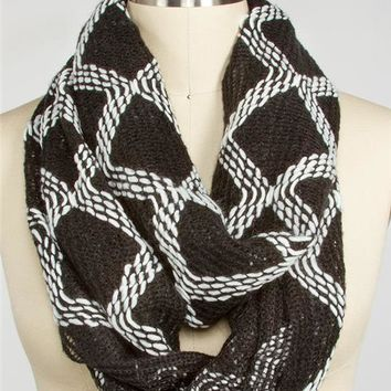 Geo Stitch Eternity Scarf
