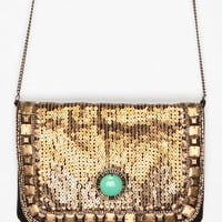 Kimchi Blue Art Deco Jeweled Clutch