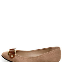 Soda Besty Light Taupe Charming Chain Ballet Flats - $19.00