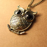 Discount China china wholesale Flower Carved Retro Owl Unique Sweater Chain Pendent 6458 [6458] - US$1.99 : Bluelans
