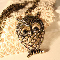 Discount China china wholesale Retro Smart Hollow Owl Sweater Chain Necklace Pendant 5745 [5745] - US$1.49 : Bluelans