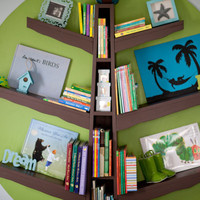 Handmade, wooden bookcase for a childs room or Nursery