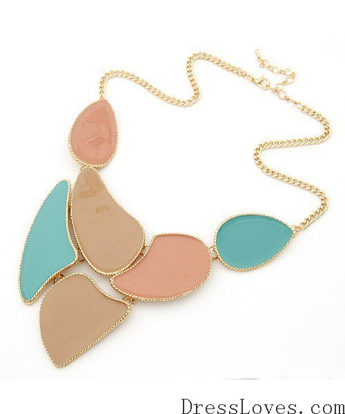 Multicolor Pink Necklace@09062544