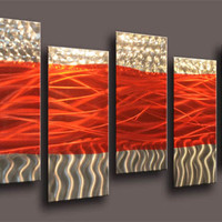Metal Wall Art Abstract Modern Seascape Contemporary Home Decor