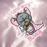 Satin Pink Baby Snuggle Security Blanket Soft I Love My Blankie 18X18