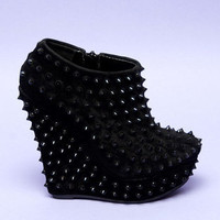 Driven Studded Wedge Booties $85
