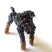 Doberman Beaded Dog Sculpture