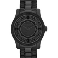 Michael Kors Runway Crystal Watch, Black