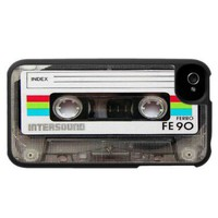 Cassette Tape iPhone 4 Case from Zazzle.com