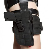 Black Sexy DEA Damsel Gun Leg Holster with belt Costume Accessory