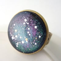 Galaxy Ring, Adjustable Ring, Cosmic Ring, Stars Ring ***SOLD***