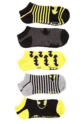 DC Comics Batman No-Show Socks 5 Pack - 172559