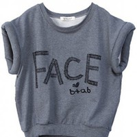 Women Vogue All Matched Scoop Letter Pattern Casual Grey Cotton T-Shirt One Size@WY2040gr $22.73 only in eFexcity.com.