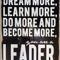 Typography Wood Sign - You Are a Leader Wall Decor