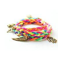Mixed Woven Friendship Bracelet on Luulla