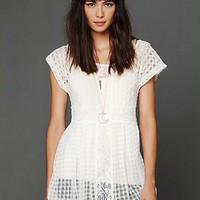 Free People FP New Romantics Light as Air Babydoll Top