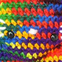 Crochet Kitty Doll Rainbow Cat Amigurumi Kawaii Kitteh