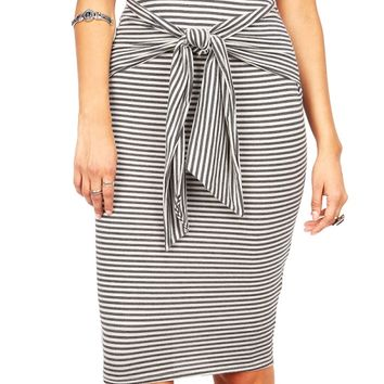 Sailor Tie Midi Skirt