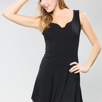Black Mini Flare Dress
