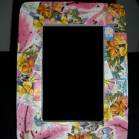 Photo frame, 4x6 Flowered Easter Seals Lilllies