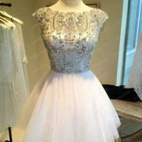 New Short Mini Beaded Girl's Cocktail Prom Homecoming Dress Size 6 8 10 12 14 16
