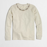 Factory necklace sweatshirt : Knits & Tees   J.Crew Factory
