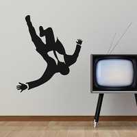 Mad Business Men Falling From The Sky Vinyl Wall Art