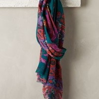 Galina Floral Scarf by Tolani Turquoise One Size Scarves