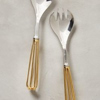 Whisk Serving Set by Anthropologie Gold One Size Serveware