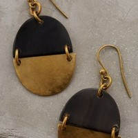 Moon Phase Drops by Anthropologie Black One Size Earrings